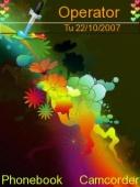 Скриншот темы Rainbow для телефона Nokia