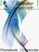 Скриншот Coloured Feather темы для телефона Nokia